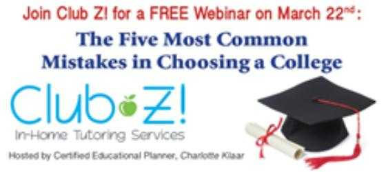 Watch this Free Webinar on the Top 5 Mistakes when Choosing a College