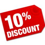 10% discount
